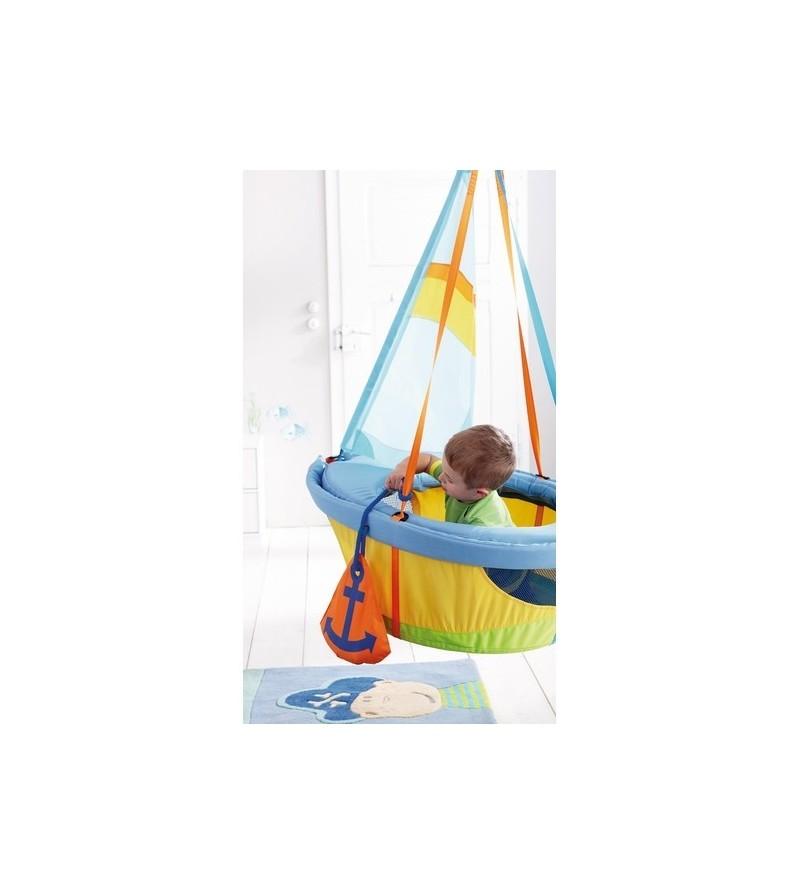Wymiary Hustawki Ogrodowej Dla Dzieci : Ciekawa, kolorowa huśtawka Statek Haba dla dwojga dzieci