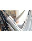 Fotel hamakowy Habana Zebra Comfort ze stojakiem drewnianym Vela