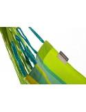 Fotel hamakowy Domingo Colour Kingsize ze stojakiem drewnianym Vela