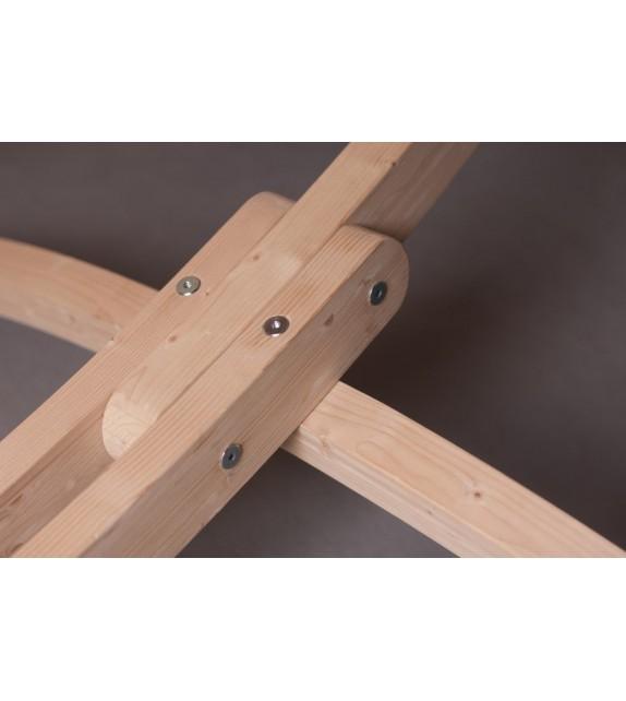 Stojak drewniany do hamaków rodzinnych