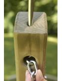 stojak na hamak drewniany dwuosobowy