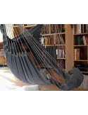 Fotel hamakowy z podnóżkiem