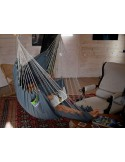Fotel hamakowy z podnóżkiem Jeans HC-FR