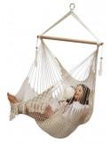 Fotel hamakowy sznurkowy z poduszkami