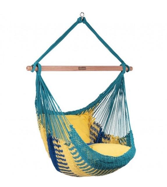 Fotel Hamakowy siatkowy sznurkowy meksykański
