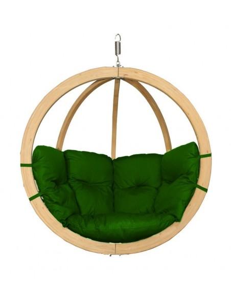 Fotel wiszący drewniany - Bubble Wood Green