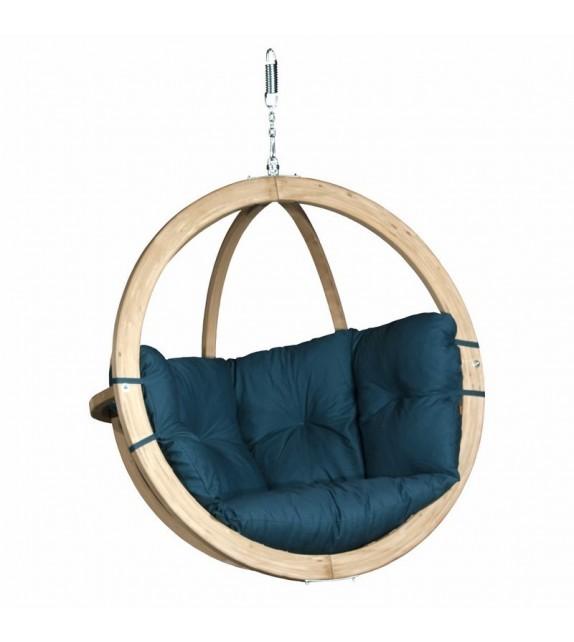 Fotel wiszący drewniany - Bubble Wood Sea Green