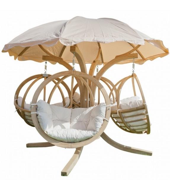 Fotel wiszący Carousel Quadro Wood