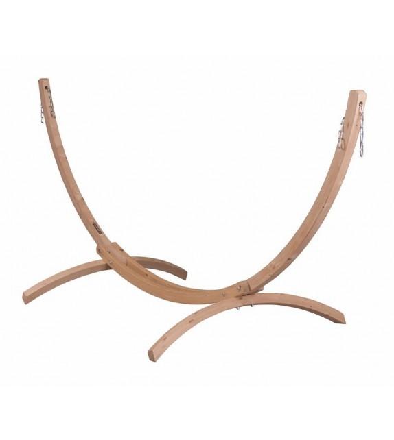 Stojak drewniany do hamaków jednoosobowych