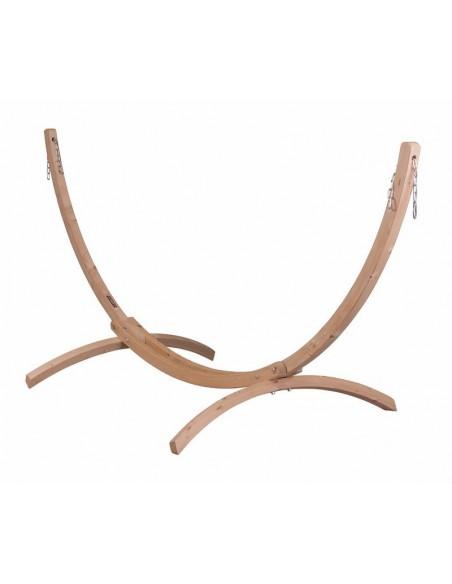 Stojak drewniany Canoa do hamaków jednoosobowych