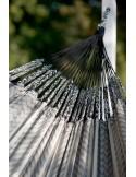 Hamak ze stojakiem drewnianym Flora Zebra & Canoa rodzinny