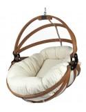 Fotel wiszący drewniany - Gaya