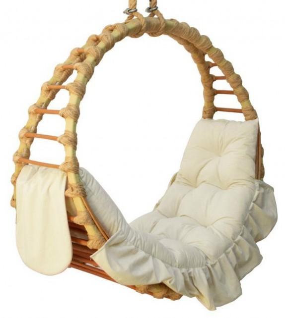 Fotel wiszący wiklinowy Ring Pierścień