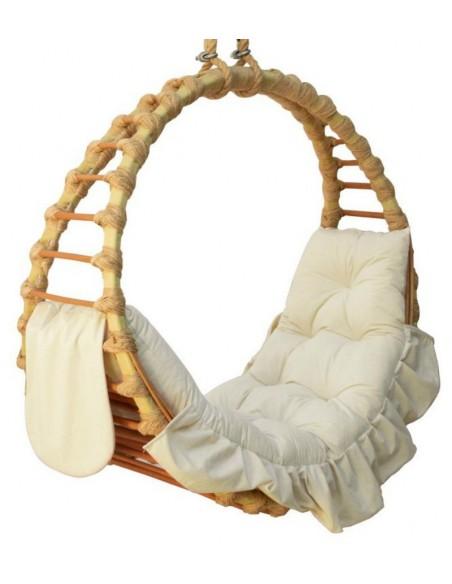 Fotel wiszący wiklinowy Ring Natural