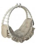 Fotel wiszący wiklinowy Ring White