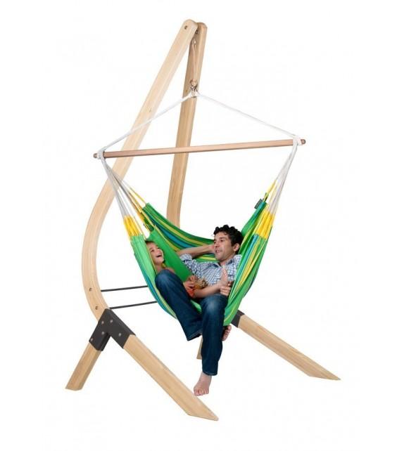 Fotel hamakowy Currambera Lounger ze stojakiem drewnianym Vela