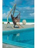 Fotel hamakowy Habana Lounger ze stojakiem drewnianym Vela