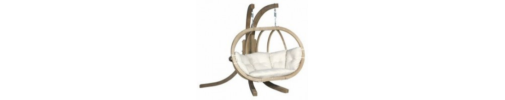 Fotele wiszące drewniane